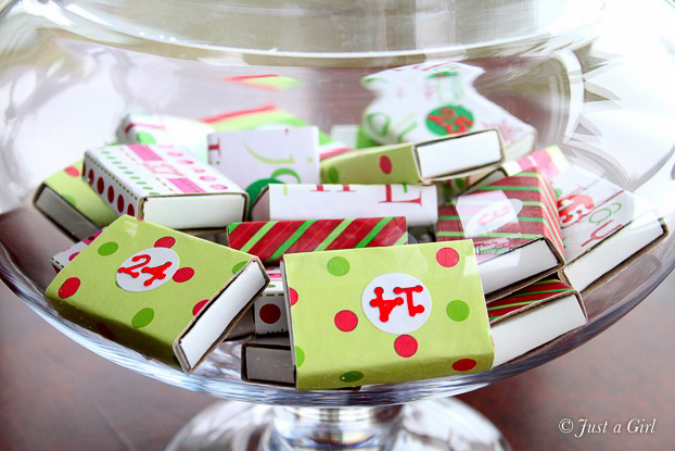 Diy Matchbox Advent Calendar : Christmas advent jar just a girl