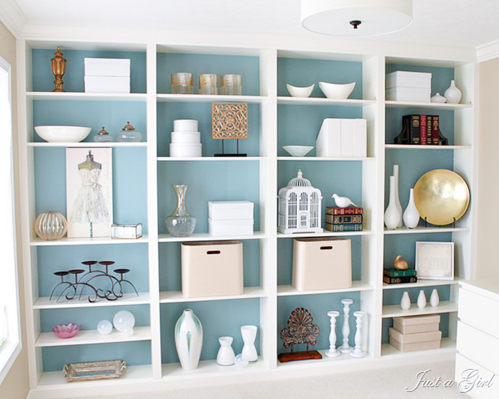 billy bookcase complete just a girl blog. Black Bedroom Furniture Sets. Home Design Ideas