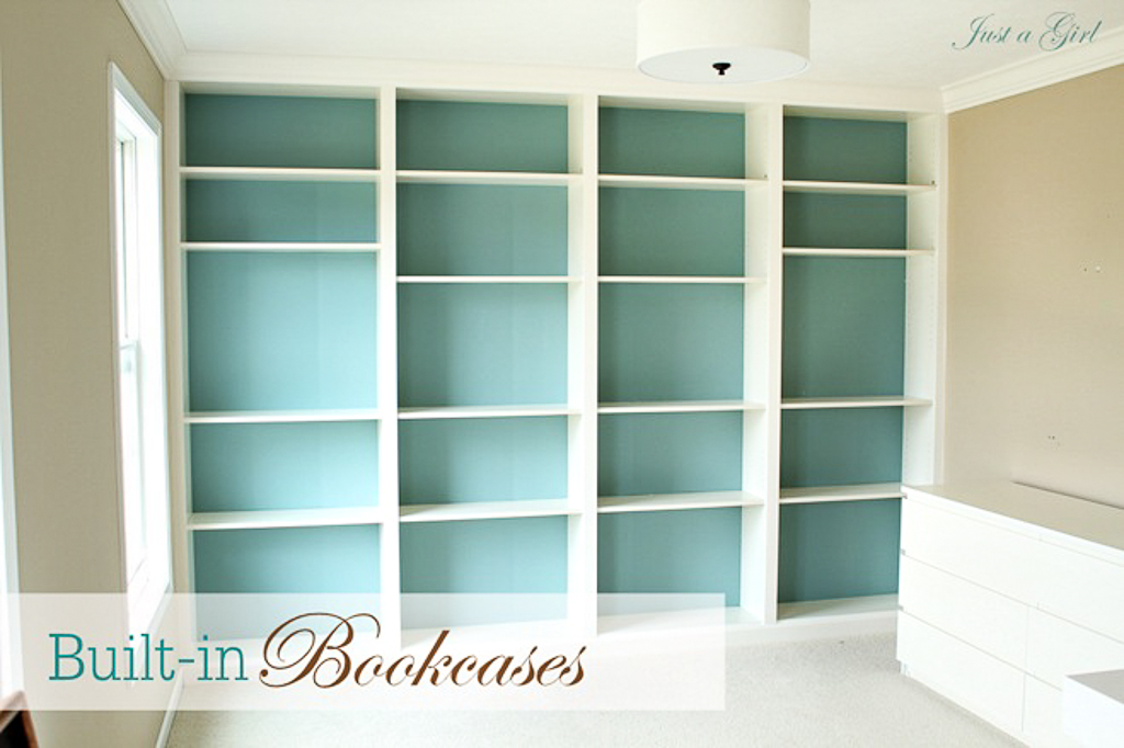 Billy Bookcases Diy Just A Girl Blog