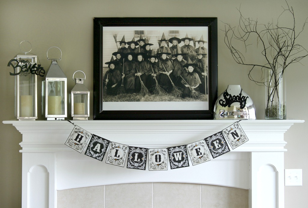 Halloween Mantel {Witches}