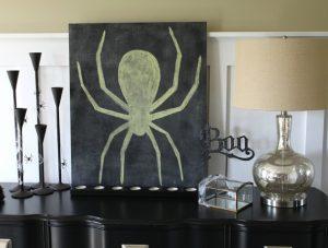 Chalkboard Spider {Lowe's Creative Ideas}