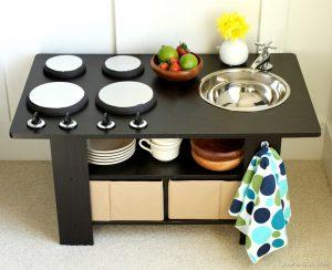 Coffee Table Kitchen {Wayfair DIY Challenge}