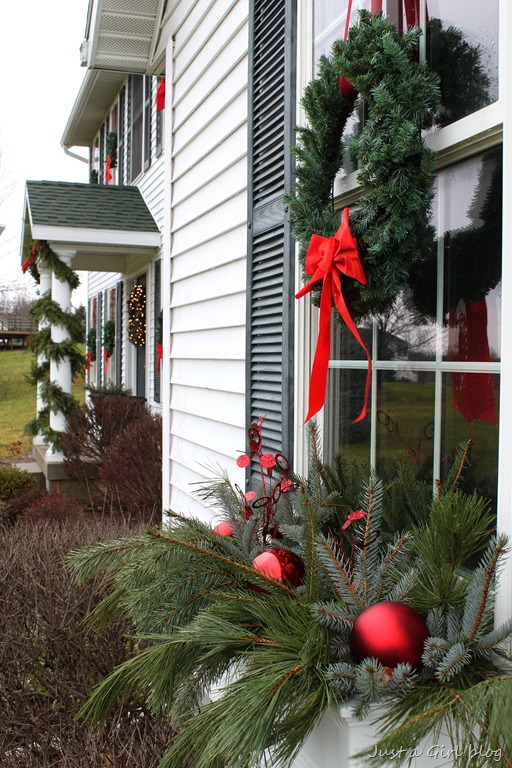 Winter Window Boxes Lowe's Creative Ideas Just A Girl Blog Inspiration Window Box Christmas Decorations