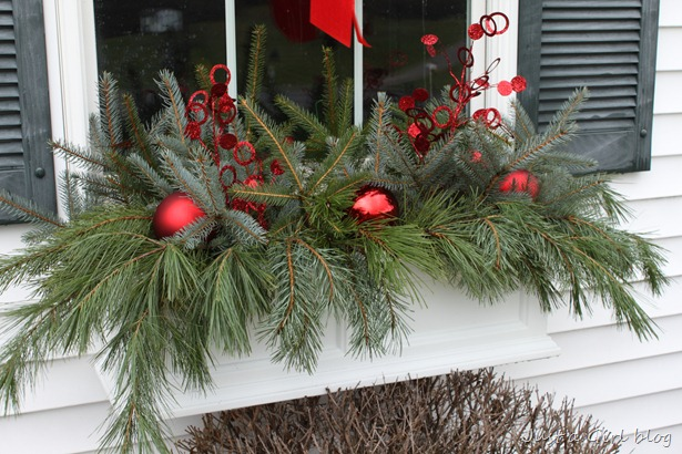 Winter Window Boxes Lowe S Creative Ideas Just A Girl Blog