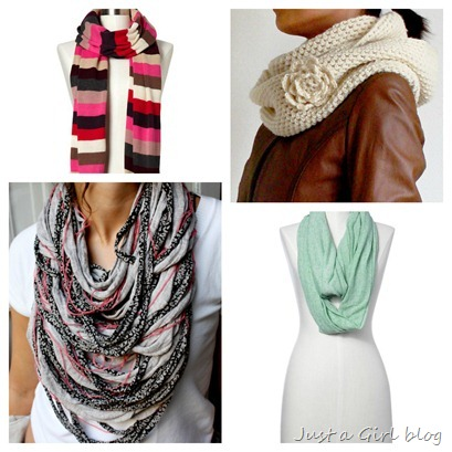 scarf collage