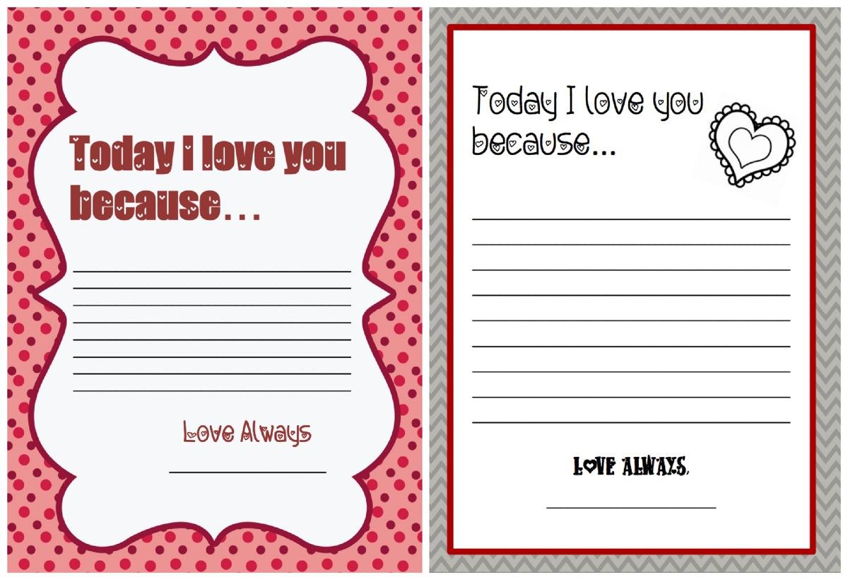 Love letter printables