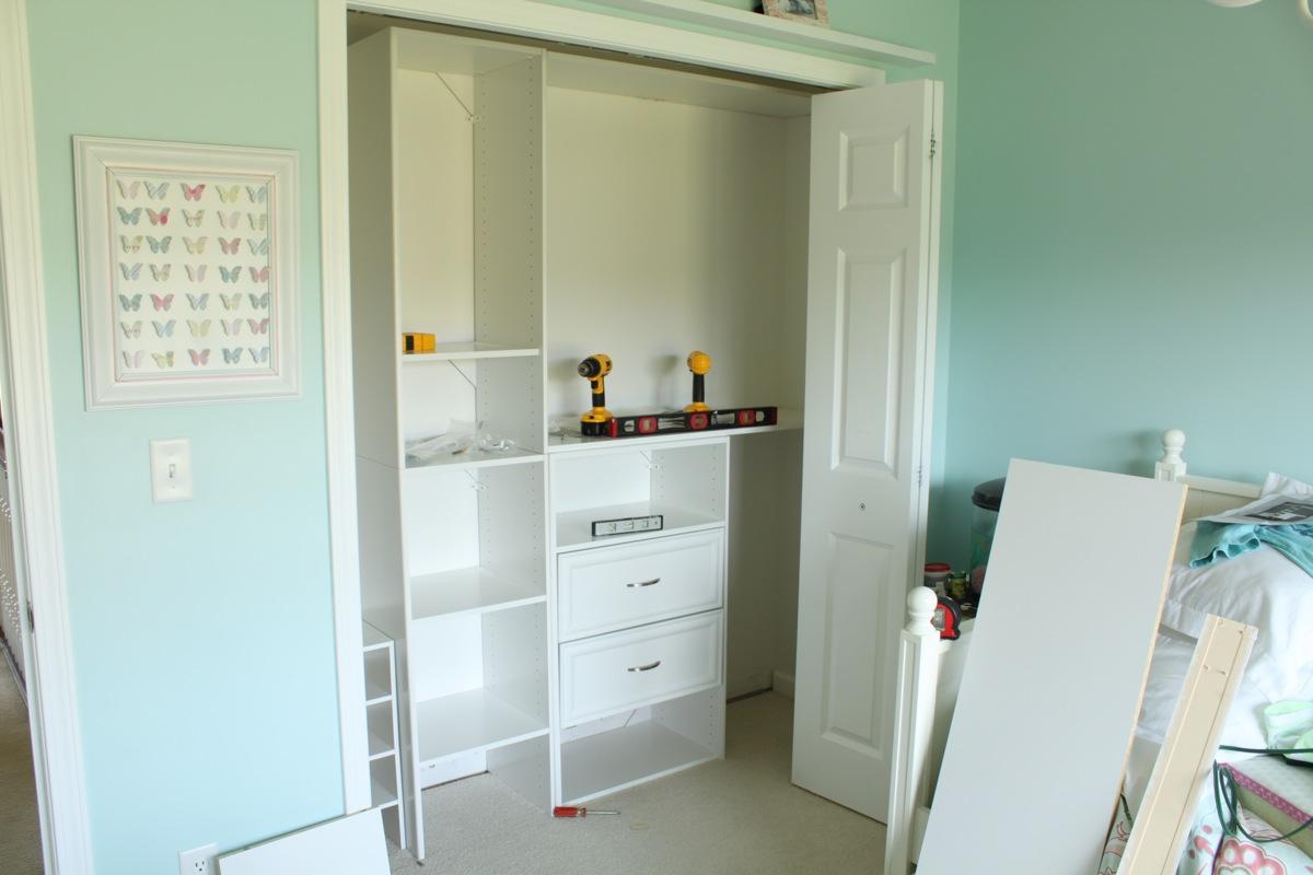 custom closet install