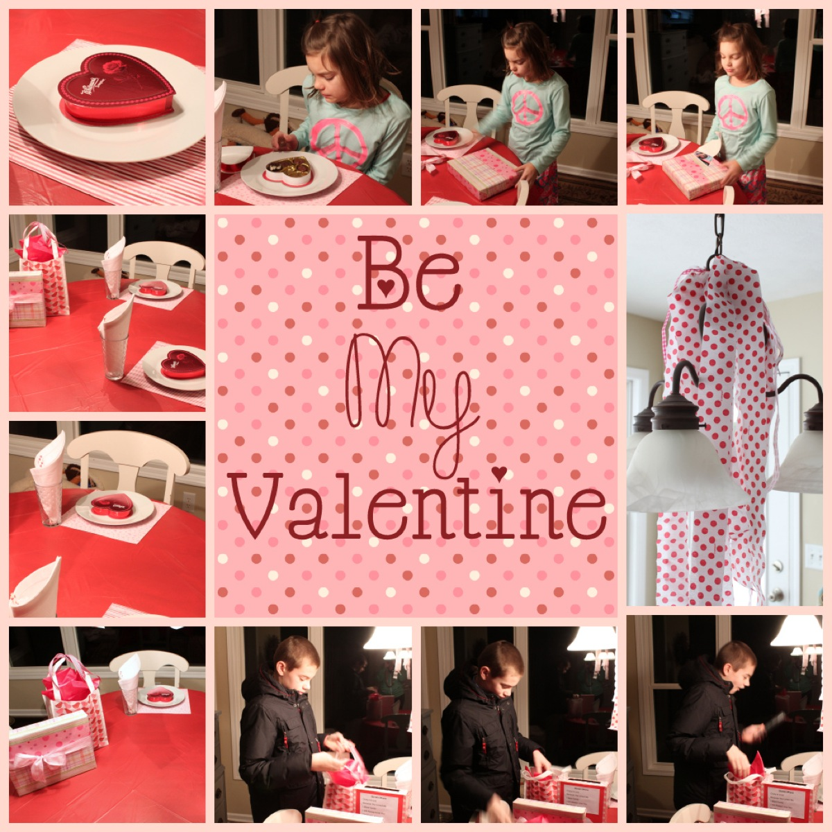 Valentine s Table collage