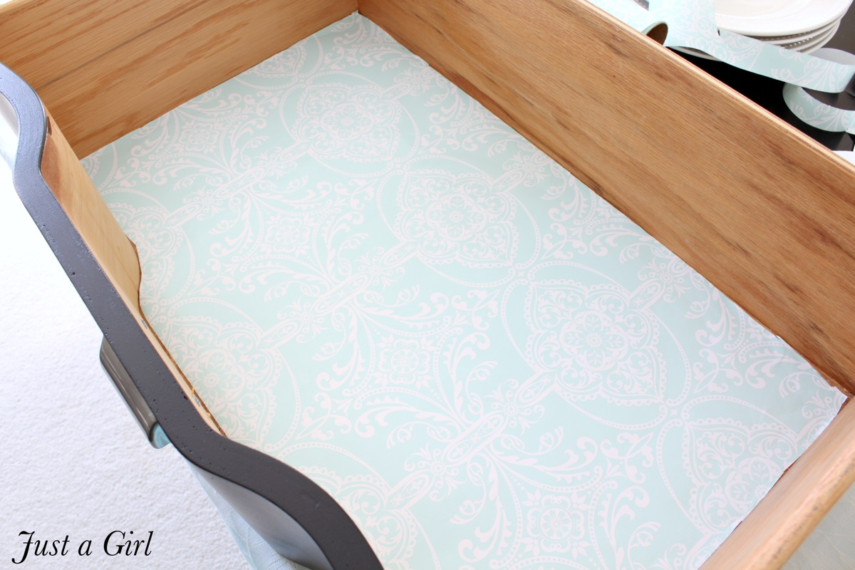 Drawer liner template