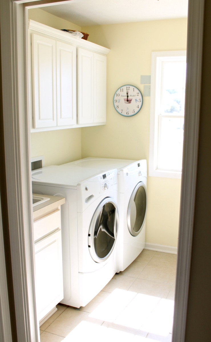 Laundry room before just a girl