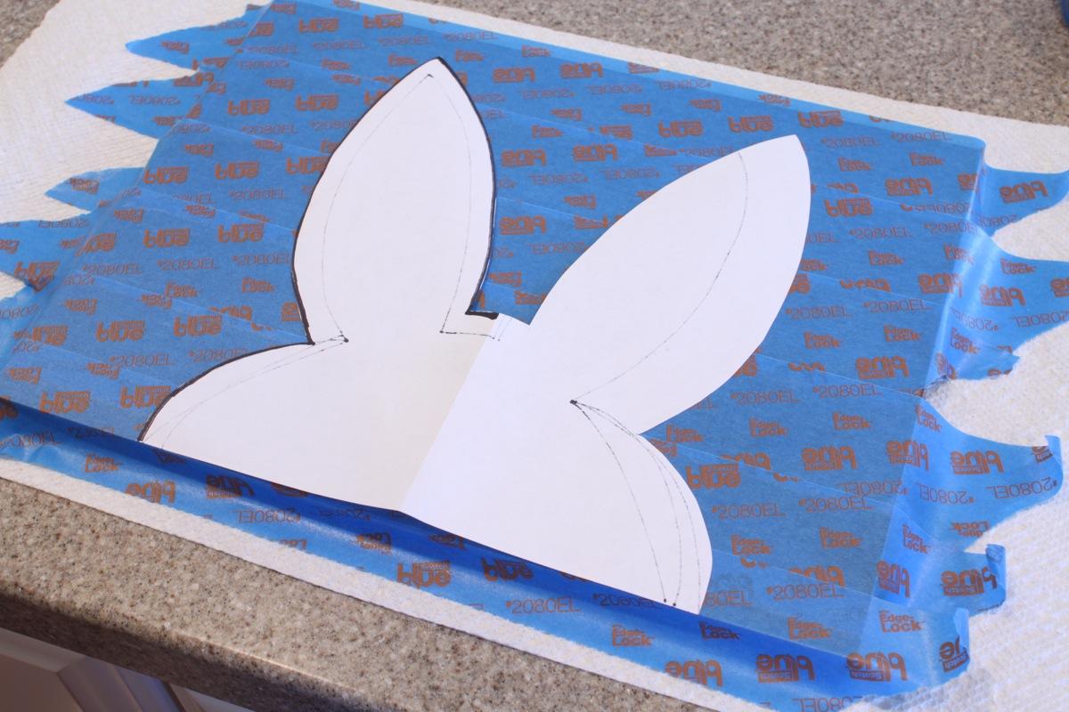 Bunny head silhouette