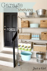 Organized Garage Shelves {Lowes Creator}