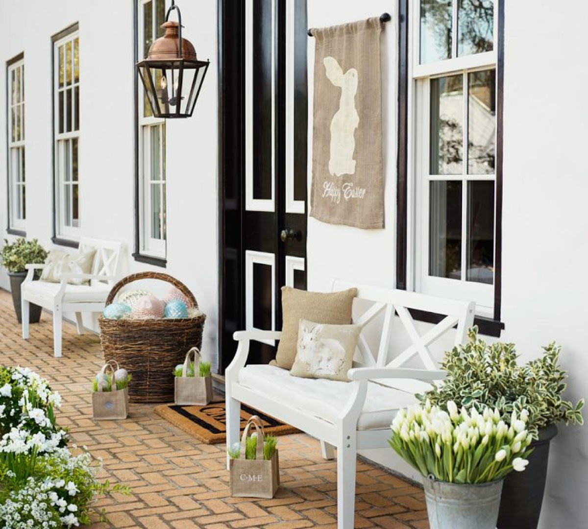 Pottery barn easter porch