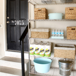 Post image for Organized Garage Shelves {Lowes Creator}