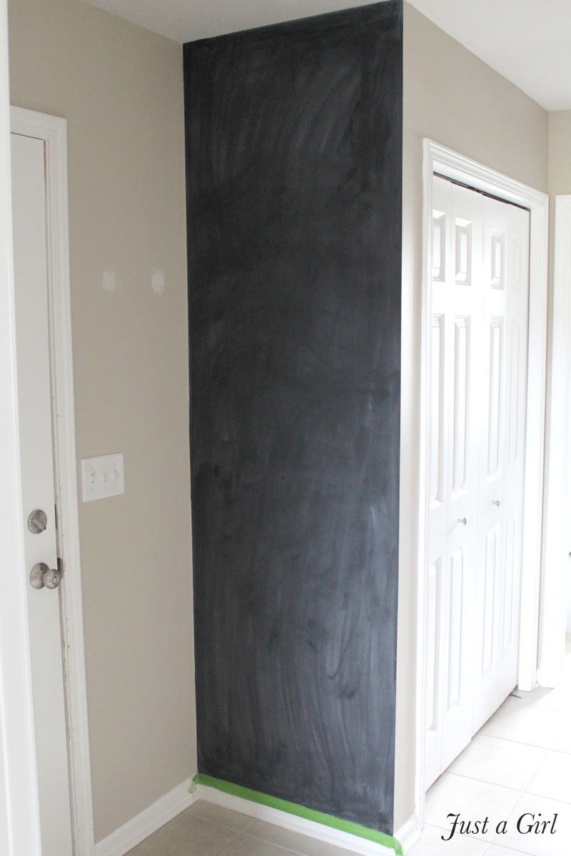 Painting a chalkboard wall