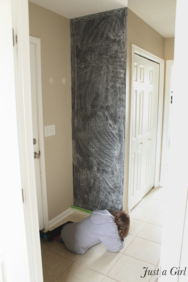A DIY Chalkboard Wall - Just a Girl Blog