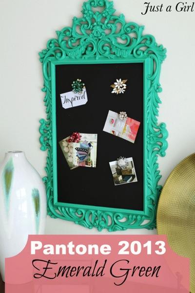 Pantone emerald green frame