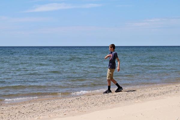Jackson on beach