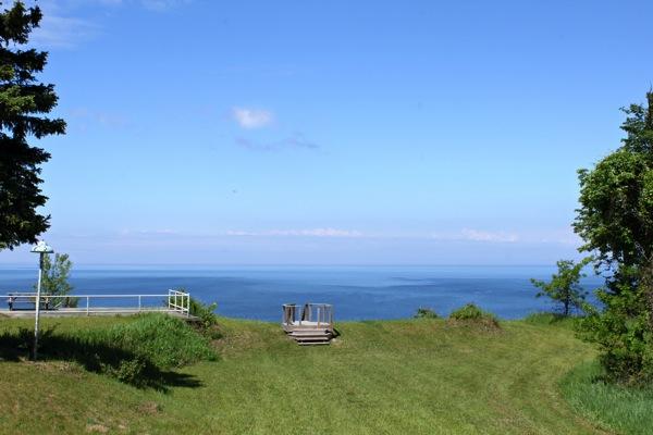 Lake Michigan from bluff
