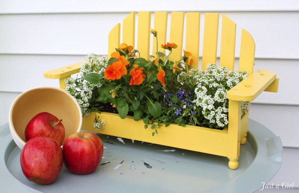 Yellow flower planter