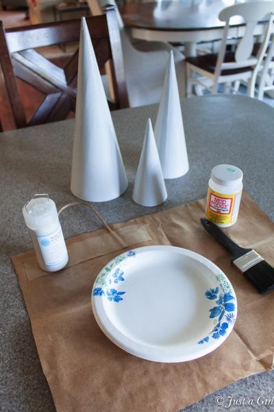 Glitter ghost supplies