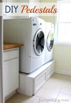 DIY laundry pedestals
