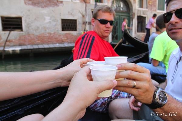 Champagne gondola ride
