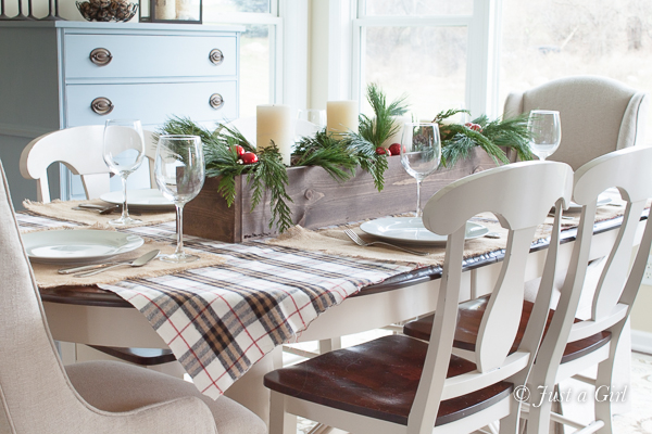 Christmas decorating with plaid