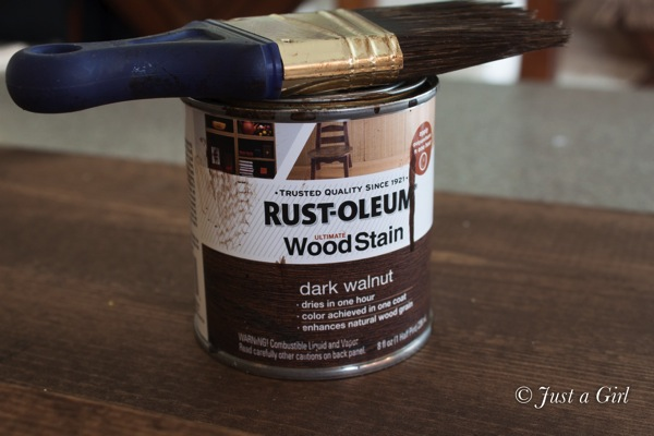Rustoleum Dark Walnut