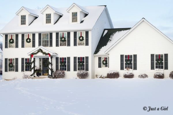 Christmas house white