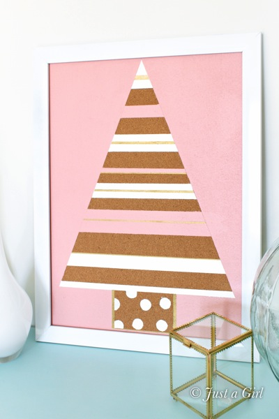 Christmas tree corkboard