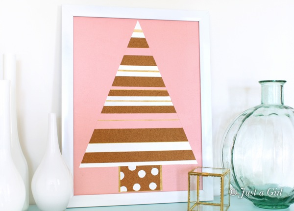Christmas tree memo board