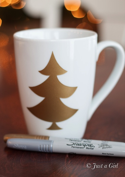 Sharpie Christmas mug