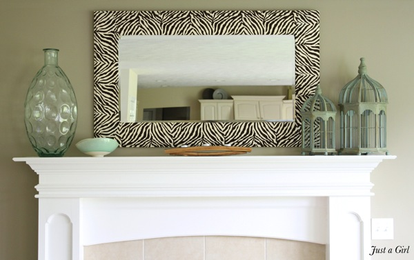 Zebra mirror diy