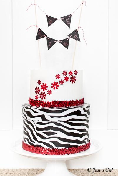 Valentine's day box cake