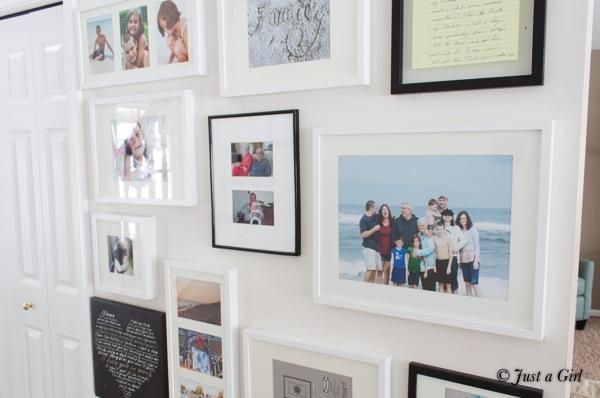 Gallery wall hallway