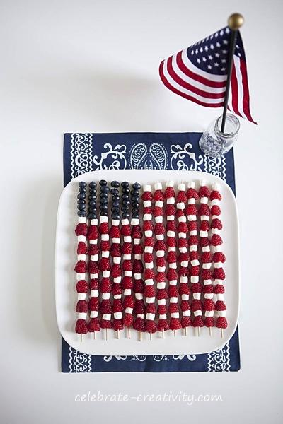 Fourth of July shish kabobs