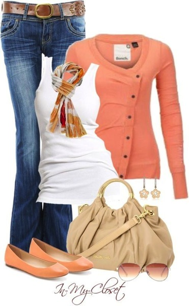 Coral camel outfit