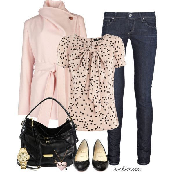 Pink black outfit