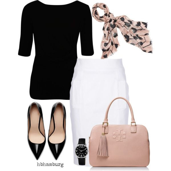Black and blush pink outfit