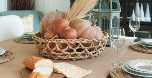 fall table craft paper