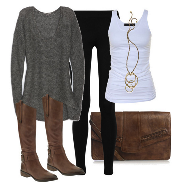 Gray white comfy outfit