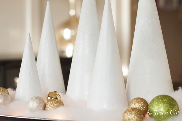 Glitter on cones