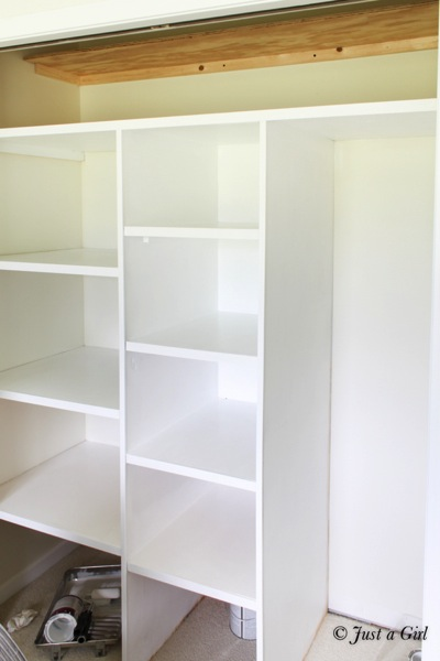 Diy closet for Adding a walk in closet