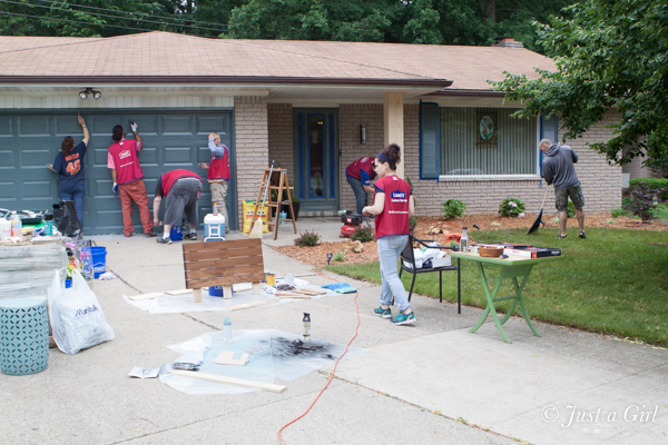Lowe's makeover painting