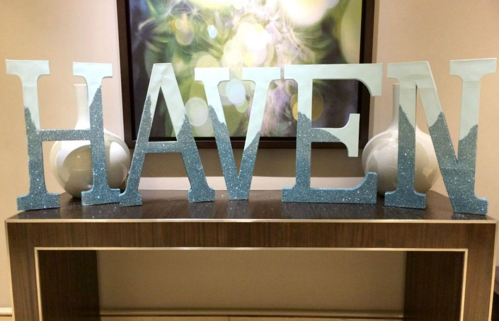 Haven glitter letters