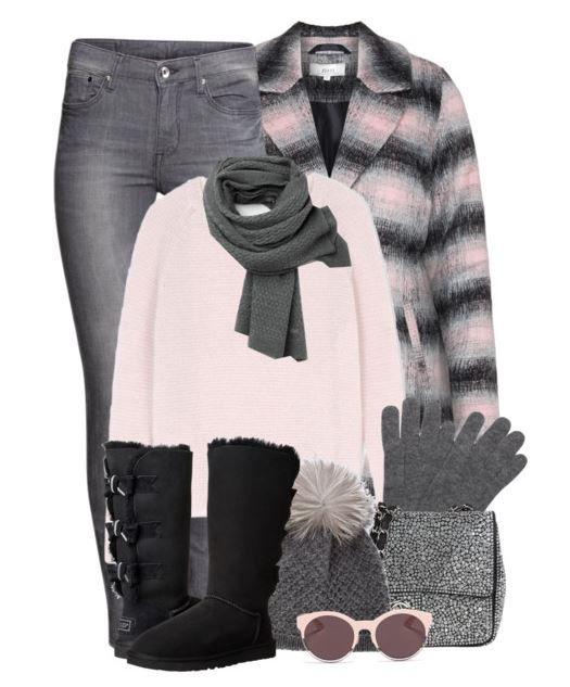 gray and pink plaid