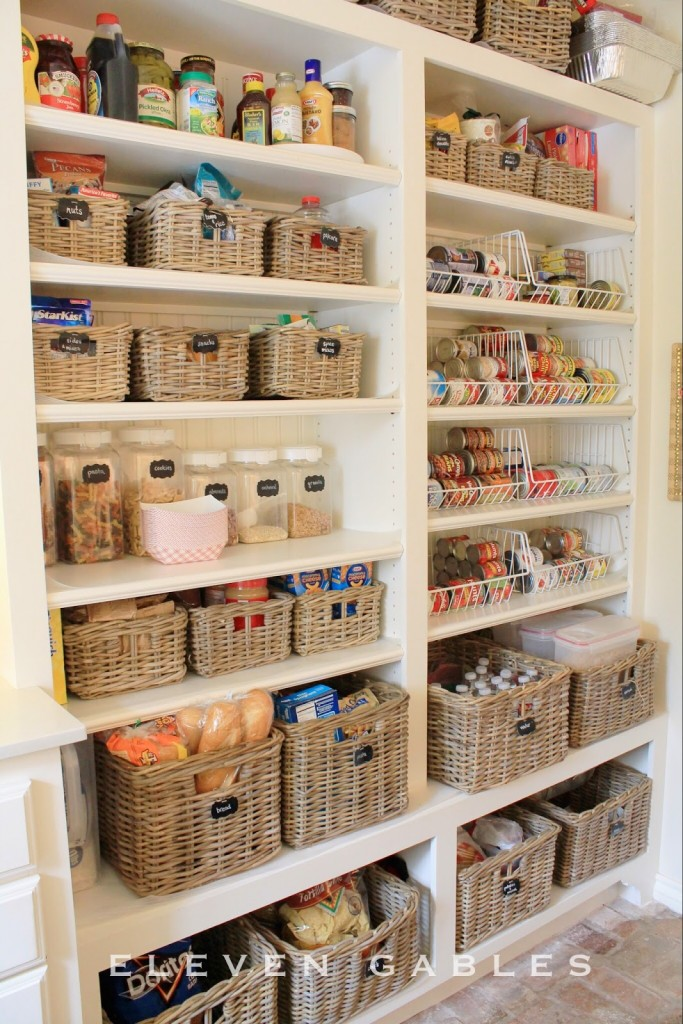 open pantry wall