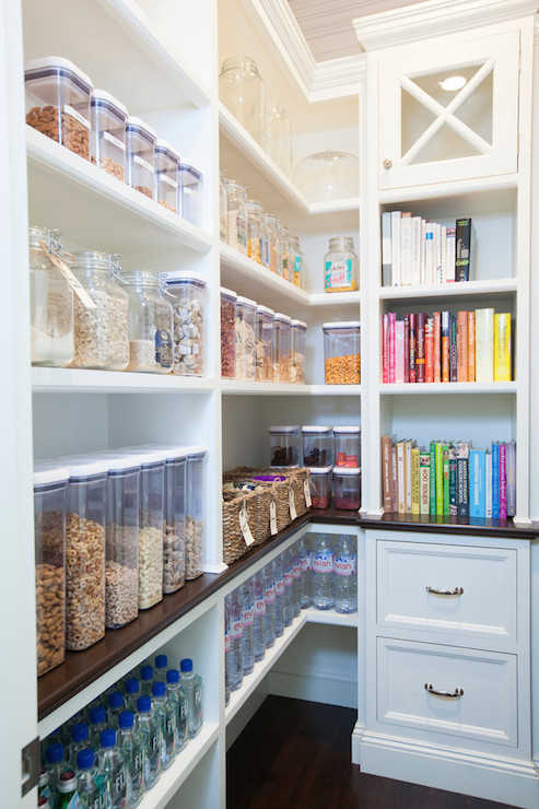 organized white pantry