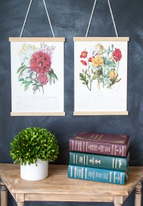 Botanical Prints {Thrifty Under Fifty}